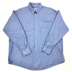 Giorgio Armani Blue White Button-down Dress Shirt